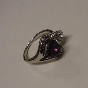 Jewelry - Purple Gemstone  Heart Fashion Ring